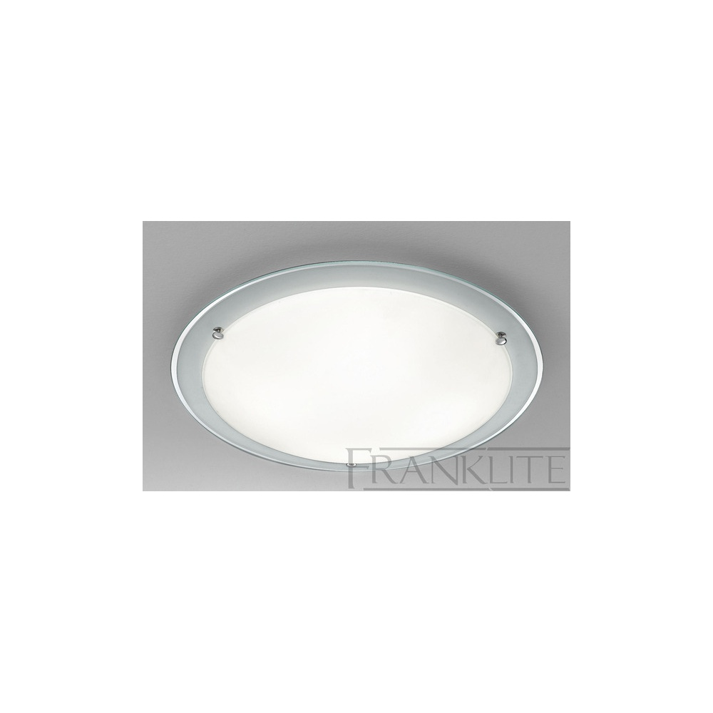 a7cc2f7da0b Franklite Lighting CF5665 Large Matt Opal Glass Flush Ceiling Fitting -  Lighting from The Home Lighting Centre UK