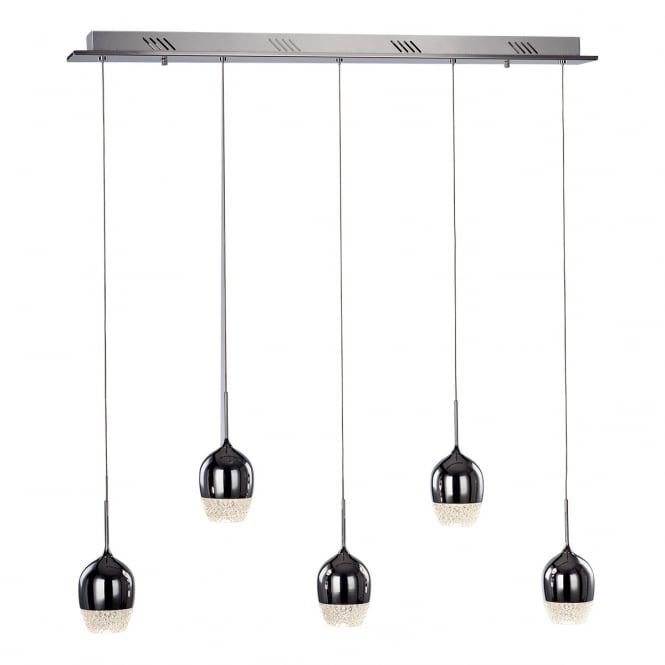Illuminati Lighting Chalice Modern 5 Light LED Ceiling Bar Pendant In Polished Chrome Finish MD15030009-5ACHR