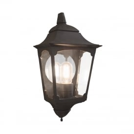 Chapel Outdoor Half Wall Lantern In Black Finish CP7/2
