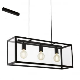 Charterhouse Industrial 4 Light Bar Pendant In Black Finish 49393