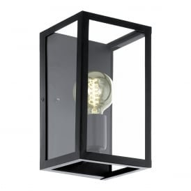 Charterhouse Industrial Single Wall Light In Black Finish 49394