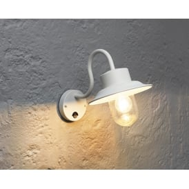 Chesham Outdoor PIR Wall Light In Gloss Stone Paint Finish With Clear Glass Shade 70305
