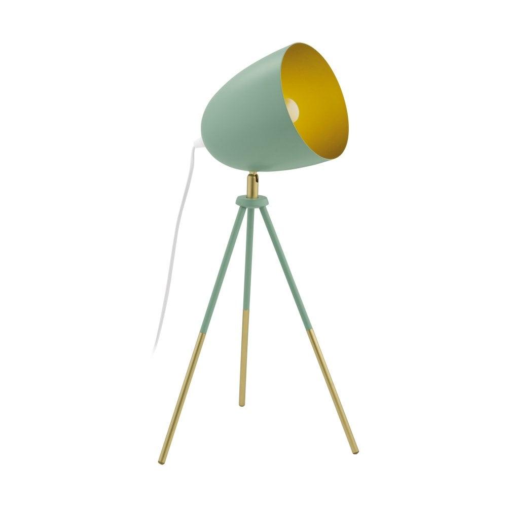 Eglo Lighting Chester P Modern Table Lamp In Dark Green And Gold Finish 49047 Lighting From The Home Lighting Centre Uk