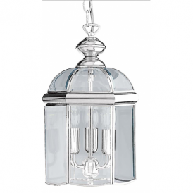 Chrome 3 Light Hanging Ceiling Lantern - 5133CC
