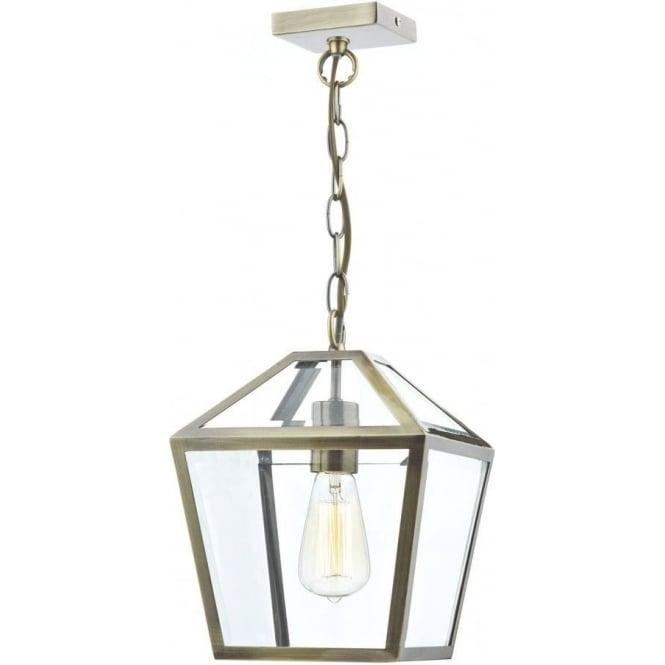 Dar Lighting Churchill Ceiling Pendant Lantern Light In