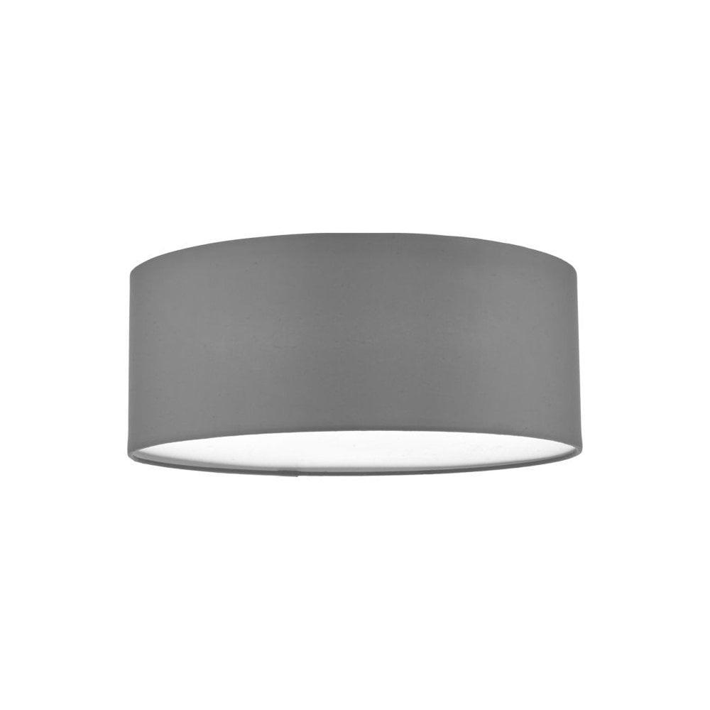 check out f9fd3 30ecd Cierro 3 Light Flush Ceiling Light With Grey Cotton Shade CIE5239