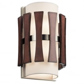 Cirus Wall Light In Auburn Stained Wood Finish KL/CIRUS2