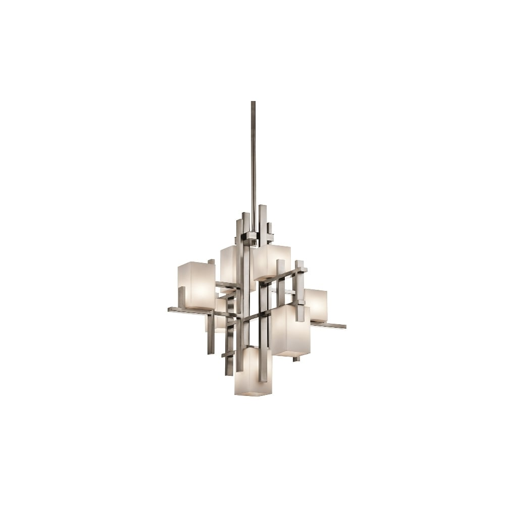 City Lights Classic Pewter 7 Light Chandelier KL/CITYLIGHTS7A ...