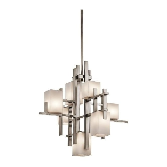 City Lights Classic Pewter 7 Light Chandelier KL/CITYLIGHTS7A