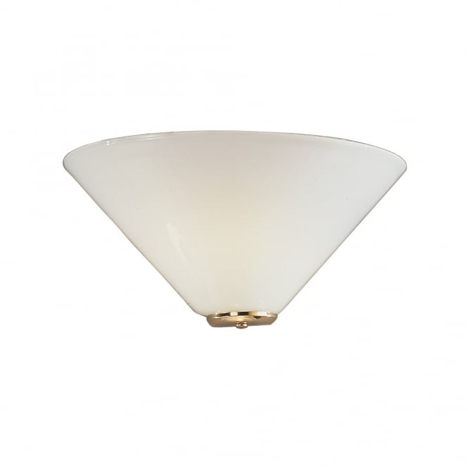 Franklite Lighting Classic Opal Glass Wall Uplighter In Brass Finish WB241/484 - Lighting from ...