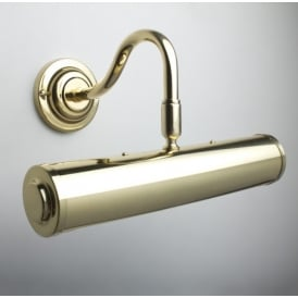 Classic Polished Brass 26cm Traditional Picture Light PL26/9 PB