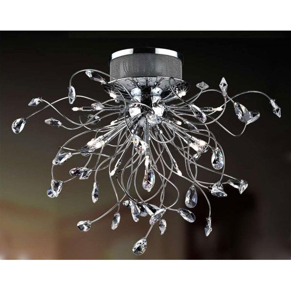 x polished crystal lights chrome flush ceilings ceiling modern light