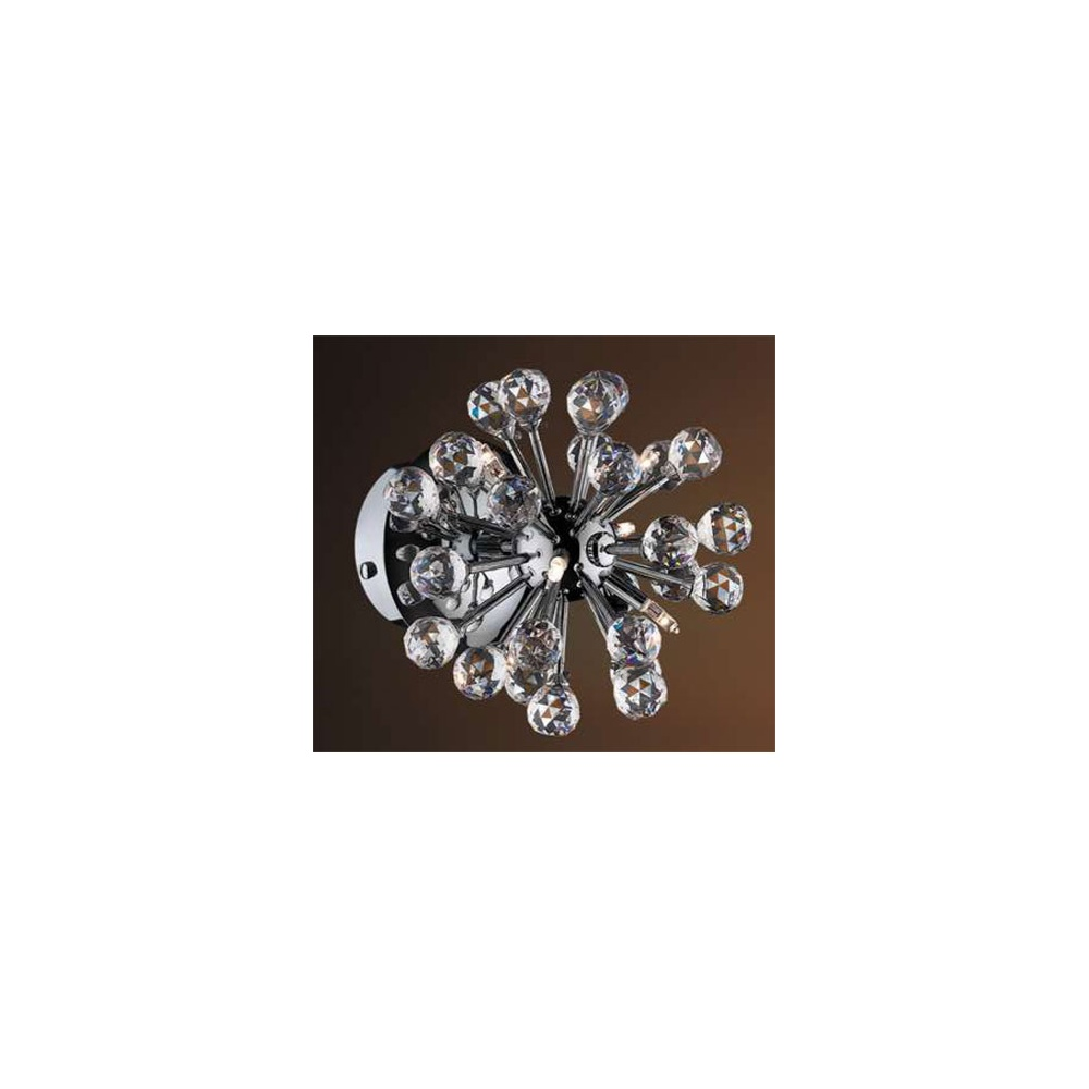 FACET 6W Contemporary 6 Light Crystal Wall Fitting With Chrome Finish  sc 1 st  The Home Lighting Centre & Click Lighting FACET 6W Contemporary 6 Light Crystal Wall Fitting ... azcodes.com