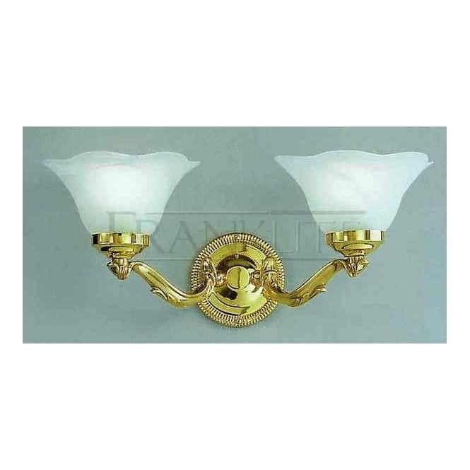 CO4032 495 Colette 2 Light Polished Brass Wall Light Shades