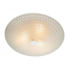 COL522 Colby Flush Ceiling Light With Opal Glass