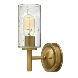 Collier Wall Light In Heritage Brass Finish HK/COLLIER1