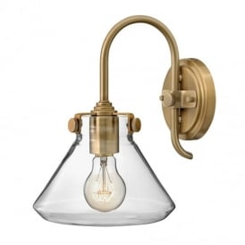 Congress 1 Light Caramel Clear Conical Glass Wall Light HK/CONGRES1/A BC