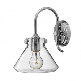 Congress Chrome 1 Light Clear Glass Wall Light HK/CONGRES1/A CM