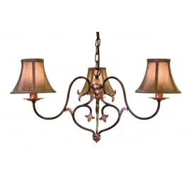 Coniston Stylish 3 Light Ceiling Chandelier In Burnished Gold Finish CN3