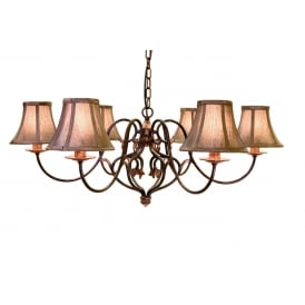 Coniston Stylish 6 Light Ceiling Chandelier In Burnished Gold Finish CN6 + LS150