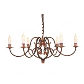 Coniston Stylish 6 Light Ceiling Chandelier In Burnished Gold Finish CN6