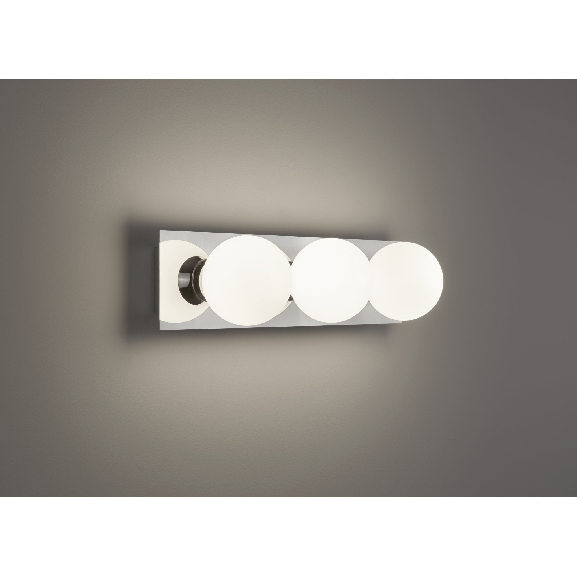 Thlc Contemporary Bathroom Led Above Mirror Wall Light In Polished Chrome Finish Ip44 Lighting From The Home Lighting Centre Uk
