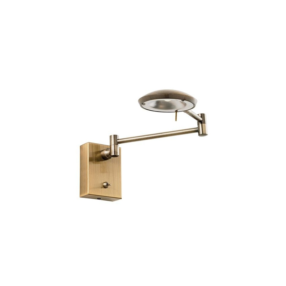 Wall Mounted Led Reading Lamps : Contemporary LED Antique Brass Wall Mounted Reading Lamp ORTON-AB - Lighting from The Home ...