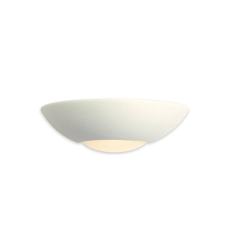 ea93bef01ba4 Firstlight Contemporary Low Energy Ceramic Unglazed Wall Washer With White  Glass C333 - Lighting from The Home Lighting Centre UK