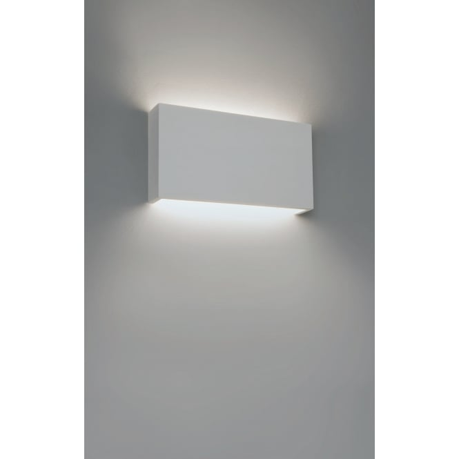 Astro Lighting Contemporary Wall Light In White Plaster Finish RIO 7608