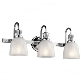 Cora LED Bathroom Wall Light In Polished Chrome Finish KL/CORA3 BATH