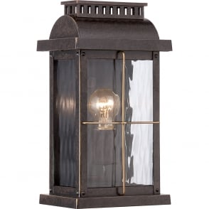 Cortland Outdoor Small Wall Light In Imperial Bronze Finish QZ CORTLAND S