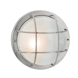 Court Outdoor Round Wall Light In Stainless Steel Finish 3425SS