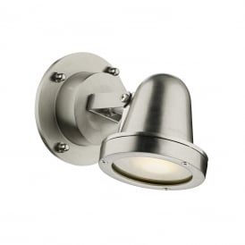 Cove Contemporary LED Outdoor Wall Light In Nickel Finish IP44 COV0738