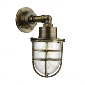 Crewe Outdoor Wall Light In Antique Brass Finish IP44 CRE1575