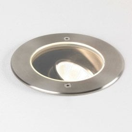 Cromarty 120 Outdoor LED Ground Light In Brushed Stainless Steel IP67 8189