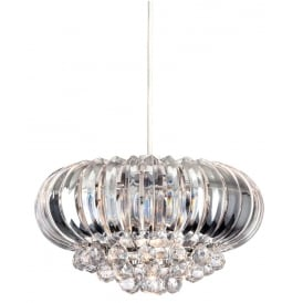 Crown Easy-Fit Ceiling Pendant With Acrylic Decoration 8633