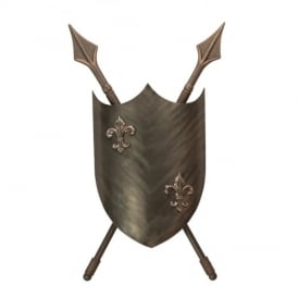 Crusader 2 Light Wall Light in Burnished Bronze Finish CRUSADER/WL BBRZ