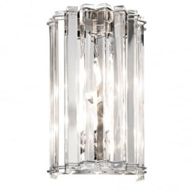 Crystal Skye 2 Light Chrome and Crystal Wall Light KL/CRSTSKYE2