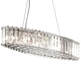 Crystal Skye 8 Light Chrome and Crystal Island Chandelier KL/CRSTSKYE/ISLE
