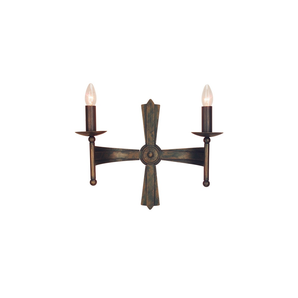 Elstead CW2 Cromwell wrought iron wall light - Lighting from The Home Lighting Centre UK