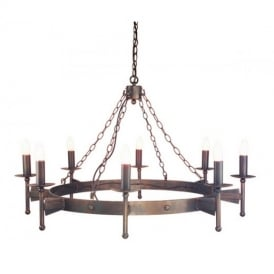 CW8 Cromwell wrought iron eight light chandelier