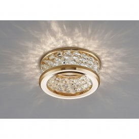 Dante Three Tier Crystal Ceiling Downlight In French Gold Finish IL30835FG