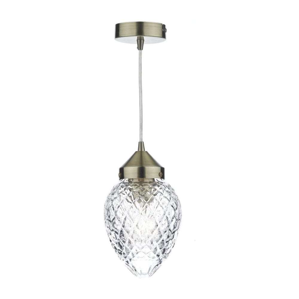 Dar lighting agatha vintage 1 light antique brass pendant light with agatha vintage 1 light antique brass pendant light with acorn shade aga0175 aloadofball Choice Image