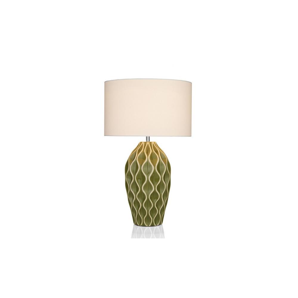 Dar lighting ank4324 ankara large green ceramic table lamp with ank4324 ankara large green ceramic table lamp with shade mozeypictures Choice Image