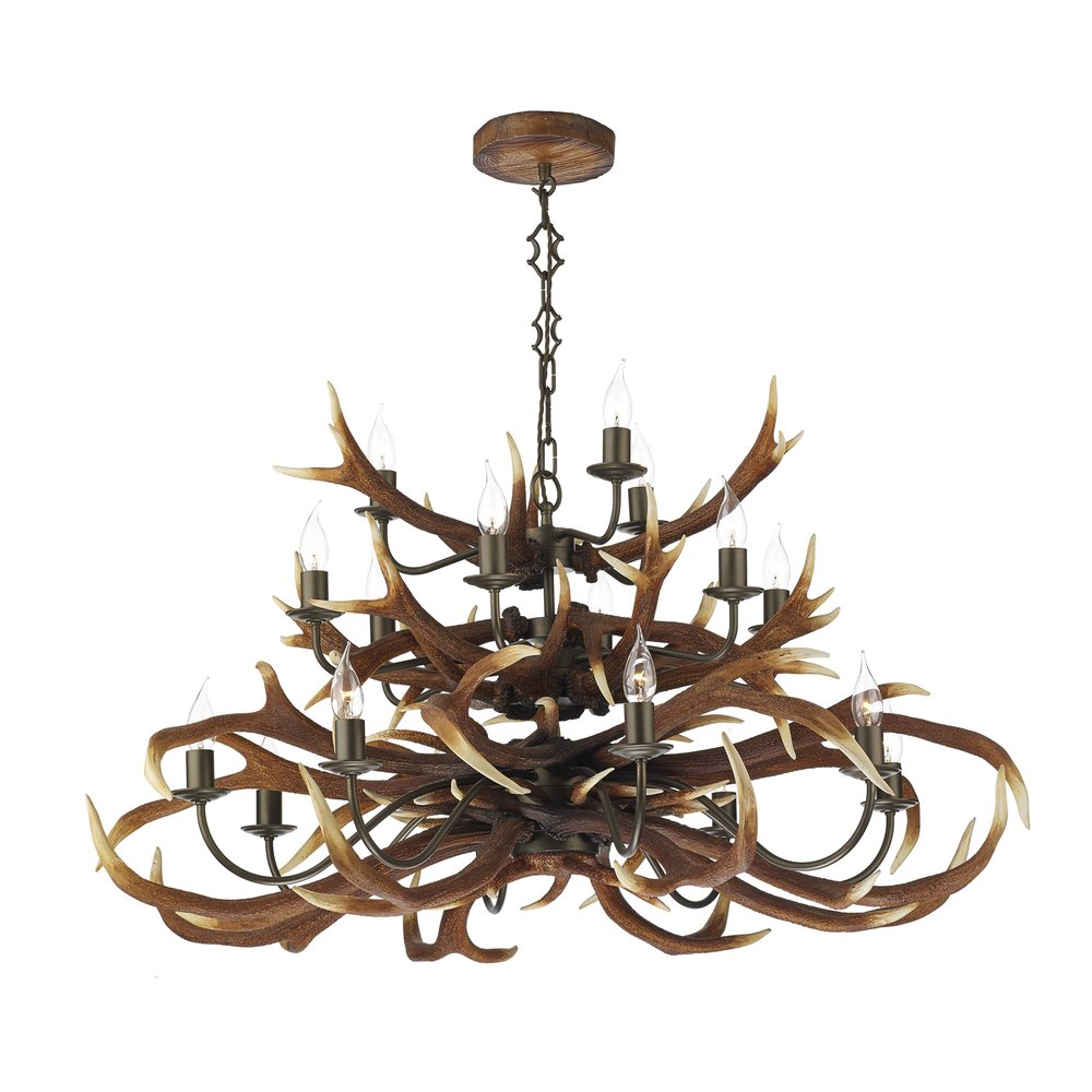 dar lighting ant1729 antler decorative 17 light tiered