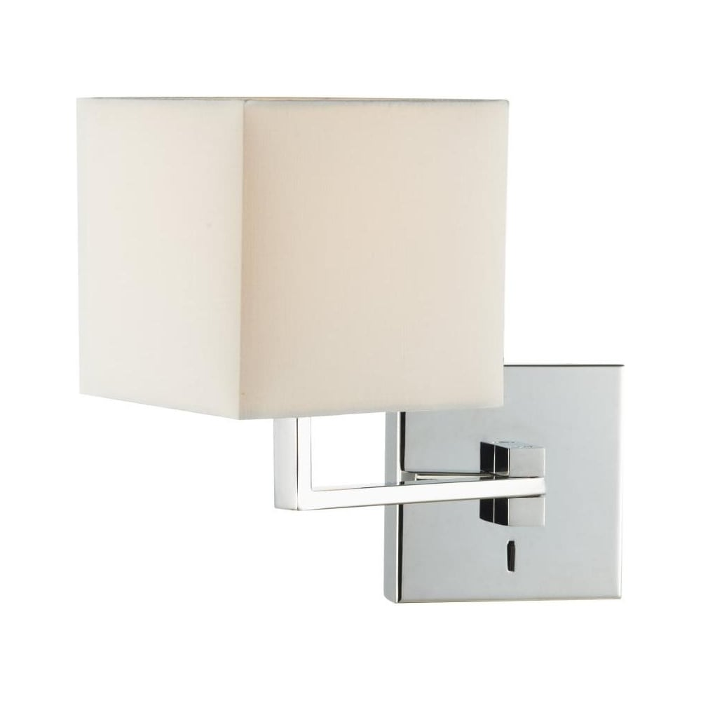 Dar lighting anvil anv0750s s1106 swing arm wall light in polished - Anvil Wall Light With Shade Anv0750s S1106