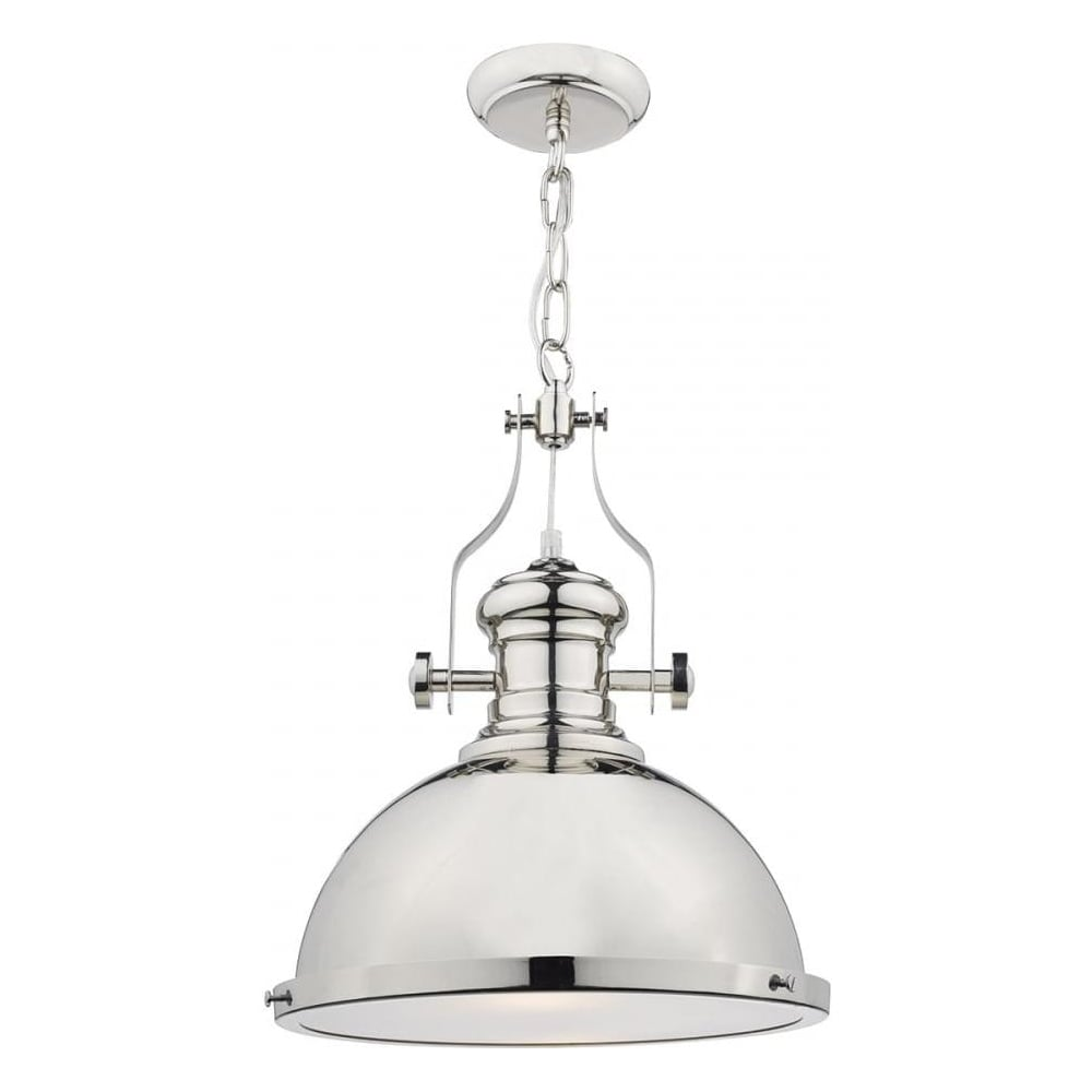 Merveilleux Arona 1 Light Polished Chrome Pendant Light With Glass Diffuser ARO0138