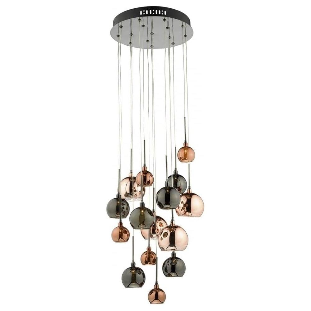 Dar lighting aurelia 15 light bronze and copper cluster pendant aurelia 15 light bronze and copper cluster pendant ceiling light aur1564 mozeypictures Choice Image