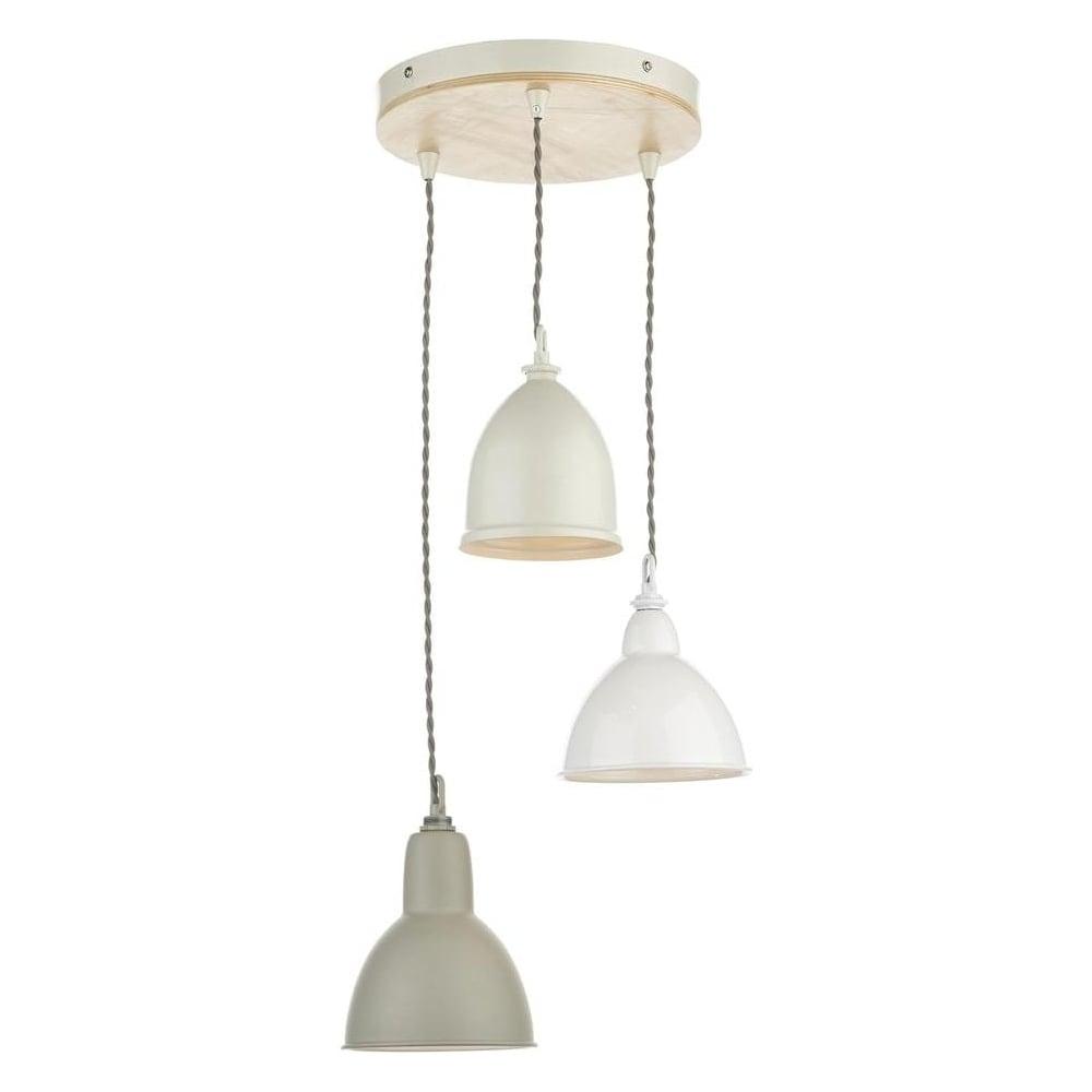 Metal Pendant Lighting Dar Lighting Bly0343 Blyton 3 Light Wood And Cream Metal Ceiling