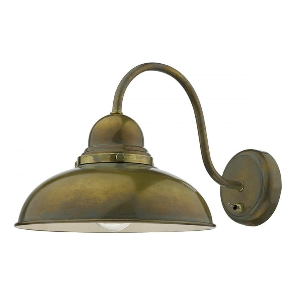 Dar lighting dynamo 1 light weathered brass wall light dyn0742 dynamo 1 light weathered brass wall light dyn0742 audiocablefo
